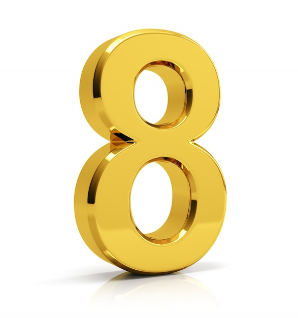 Gold Number 8 Photo