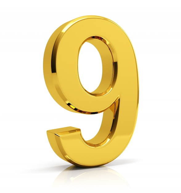 gold number 9 photo