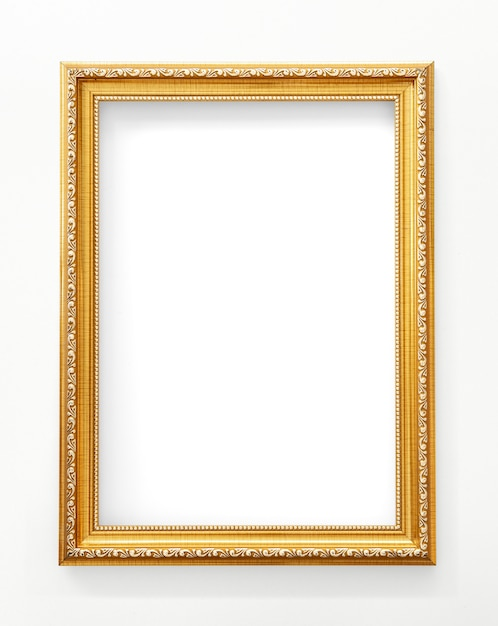 Gold picture frame mockup Premium Photo