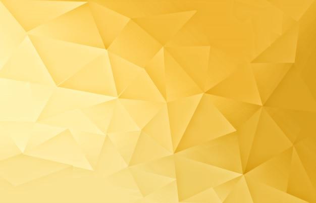 Gold polygonal pattern  light background Premium Photo