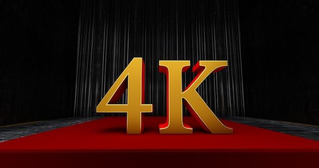 ゴールデン4kまたは4000ありがとう、webユーザー加入者またはフォロワーといいねを祝ってくれてありがとう、3dレンダリング Premium写真