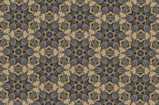 Golden abstract background textured, lines and shapes Premium Photo