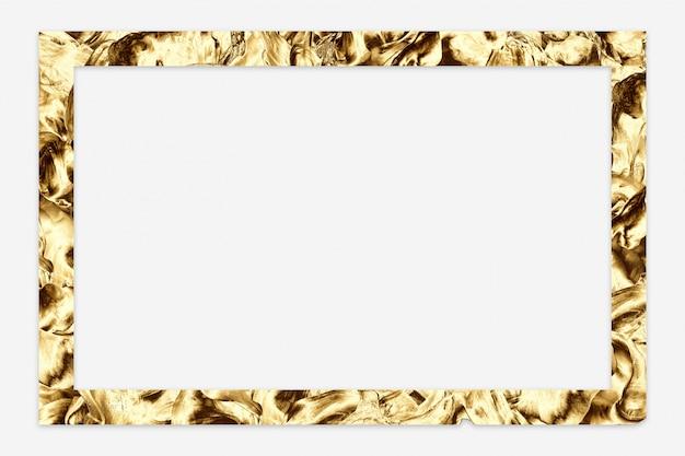 Golden abstract minimal frame Premium Photo
