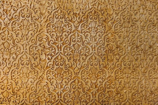 Golden arabian wall Premium Photo