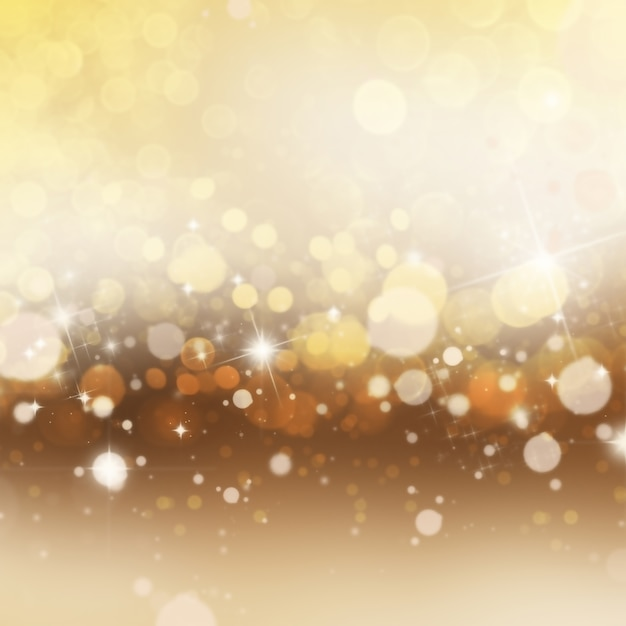 Golden background with lights Free Photo