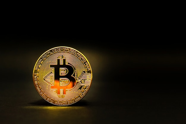 Golden bitcoin coin crypto currency physical bitcoin coins  Photo