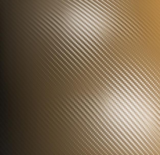 Golden carbon fiber background Premium Photo