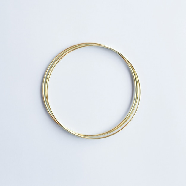 Golden circle with copyspace Free Photo