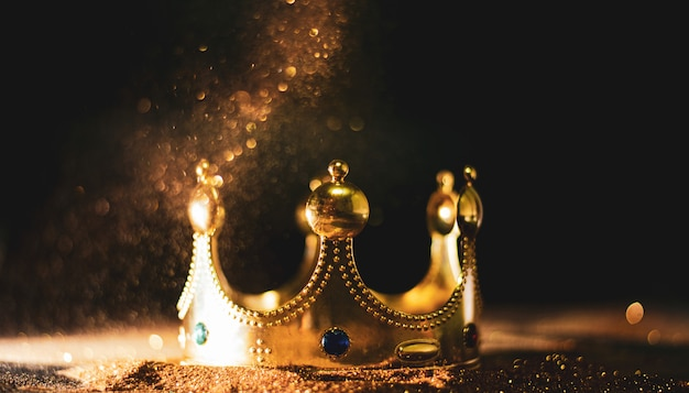 Golden crown of a king Premium Photo