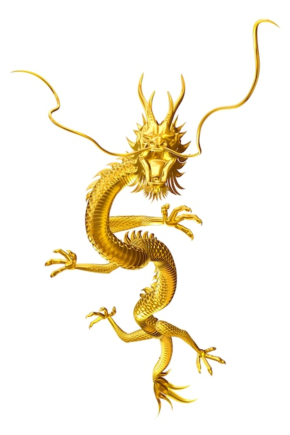 Golden dragon lucky leader come to you with family and friends Premium Photo