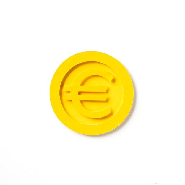 Golden european euro coin graphic Free Photo