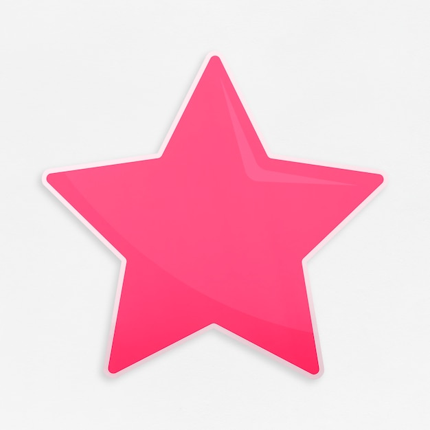 Golden favorite star icon isolated Free Photo