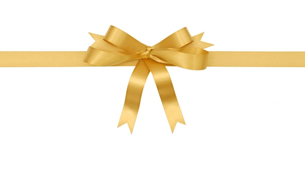 Golden gift bow Free Photo