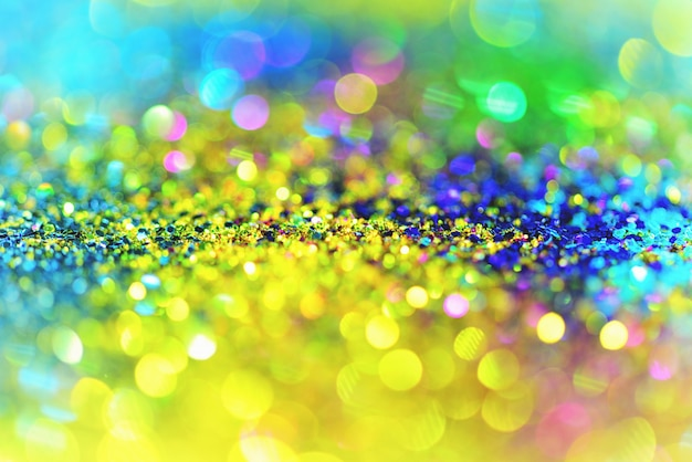golden glitter texture blurred abstract background for birthday new year eve or christmas premium photo
