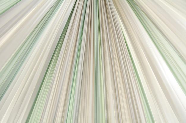 Golden, green and white wavy fabric texture - background Premium Photo