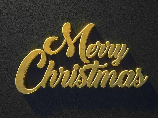 Золотое сообщение с рождеством по кожаной поверхности Premium Фотографии