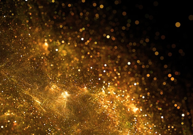 Golden particles background Free Photo