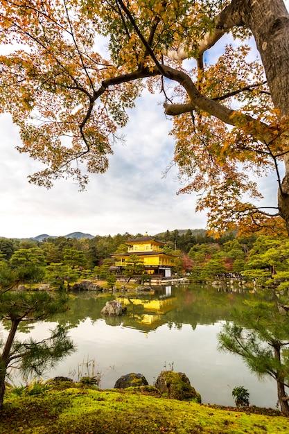 Golden pavilion kinkakuji Premium Photo