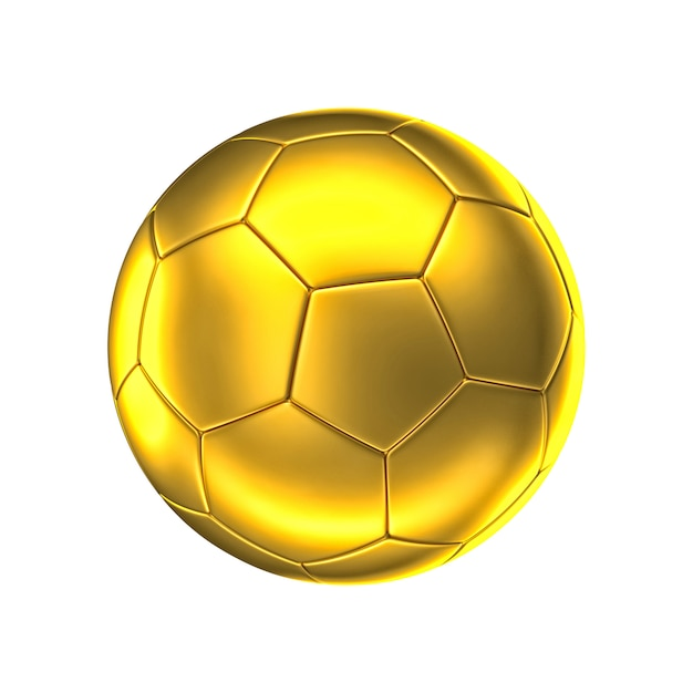 Golden soccer ball Premium Photo