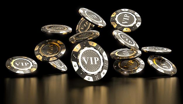 Premium Photo | Golden vip casino chip 3d