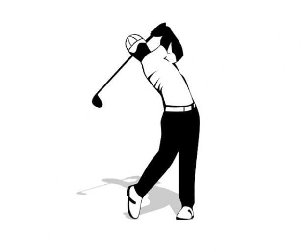 Creative Golf Logo Golf Back Swing Creative