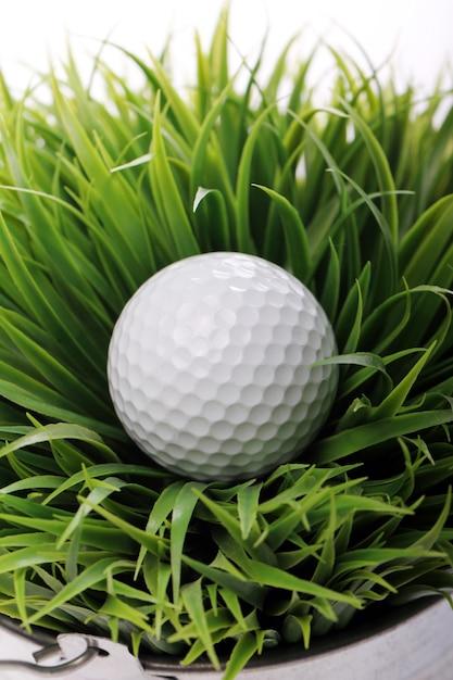 Golf ball in grass Free Photo