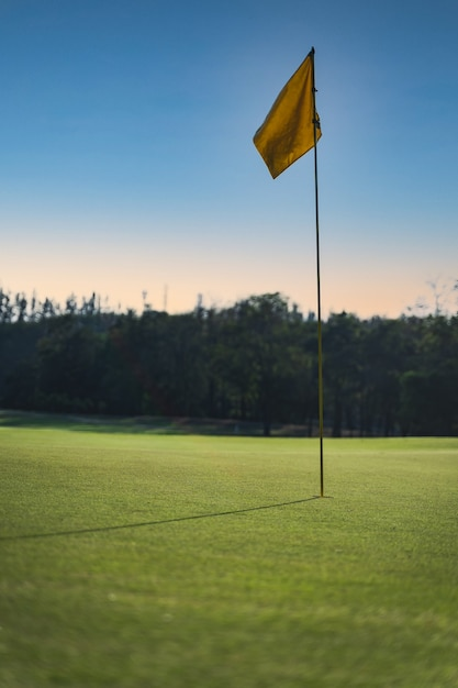 Golf course in the countryside Premium Photo