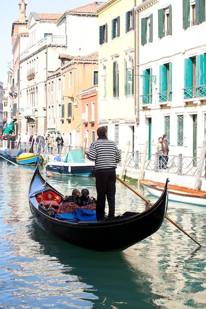Gondola in venice Premium Photo