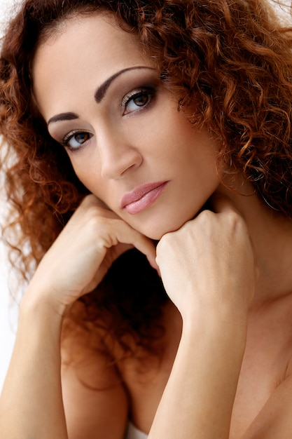 Gorgeous woman with beautiful face Free Photo