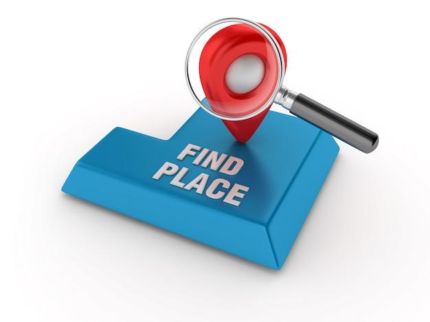 Gpsマーカーとルーペでキーを入力してください Premium写真