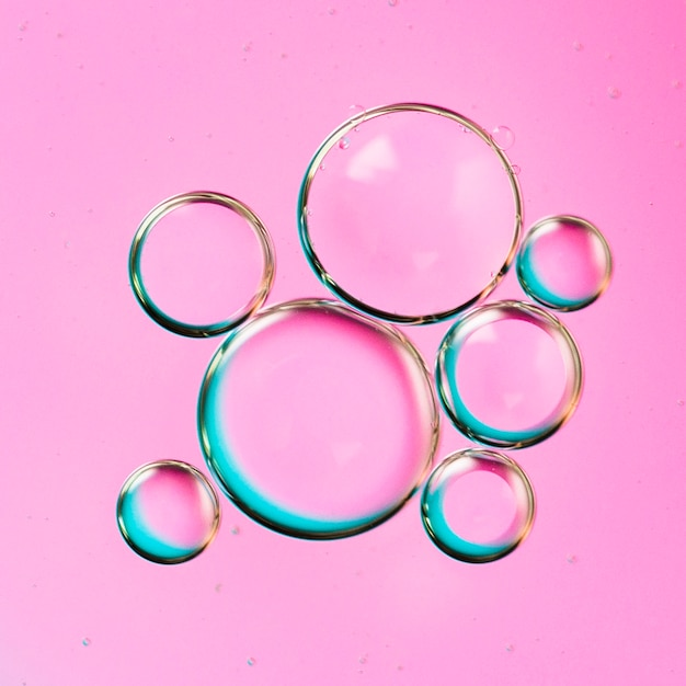 Gradient archipelago of bubble drops in water Free Photo