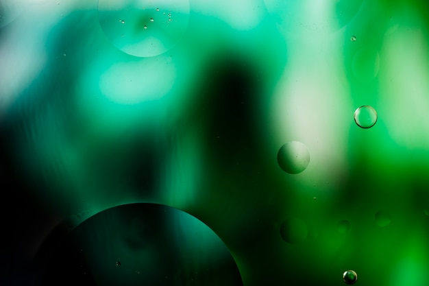 Gradient colour abstraction accompanied by transparent fluid bubbles Free Photo
