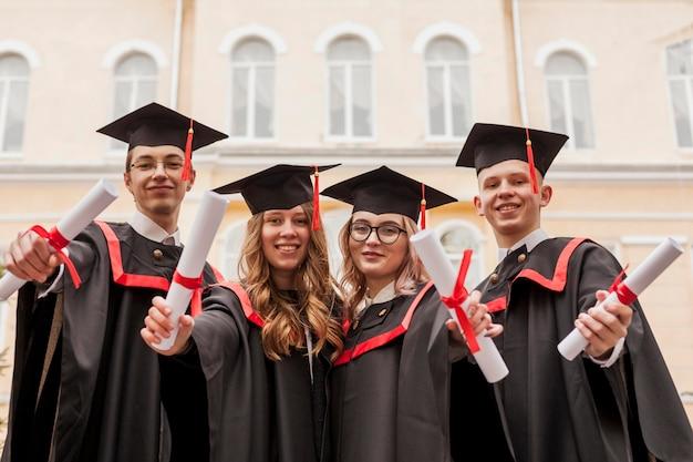 Graduated colleagues Premium Photo