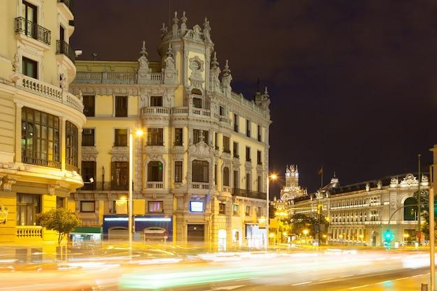 Gran via in night. madrid Free Photo
