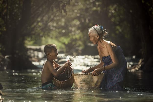 Grandmother and grandchildren Premium Photo