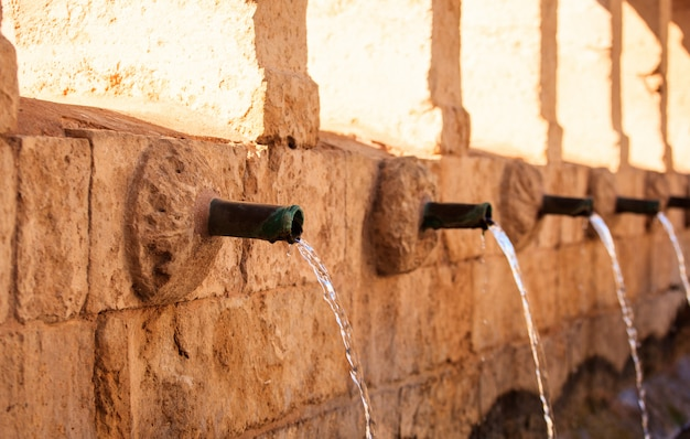 Granfonte、leonforteのバロック様式の噴水 Premium写真