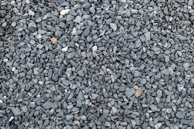 Granite gravel pattern and texture for landscape and construction. Premium Photo