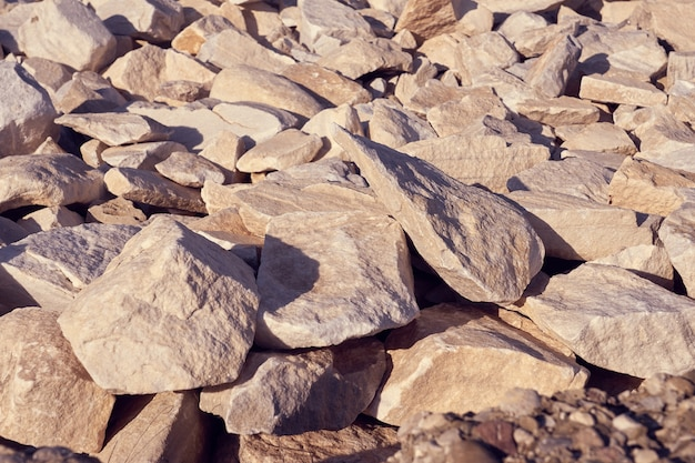 花崗岩の石セットをクローズアップ Premium写真