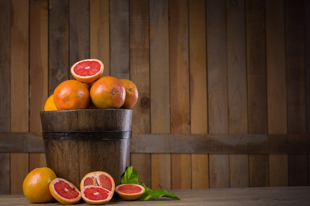 Grapefruit basket still life Premium Photo