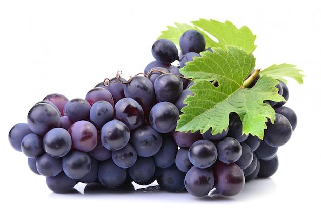 Grapes on a white Premium Photo