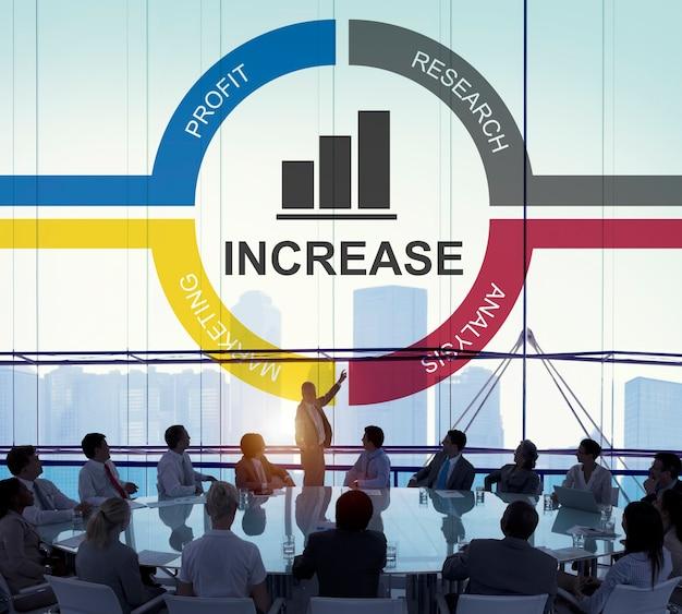 Concetto di successo di profitto di miglioramento di sviluppo di crescita del grafico Foto Gratuite