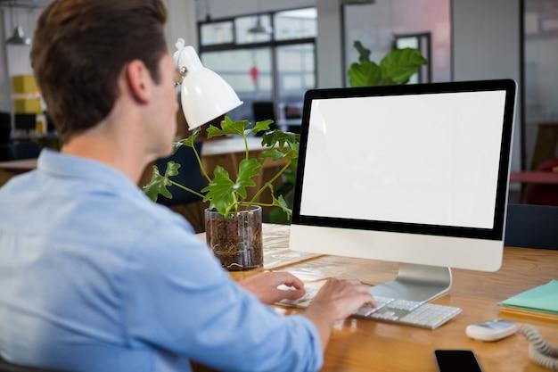 Graphic designer working on computer Premium Photo