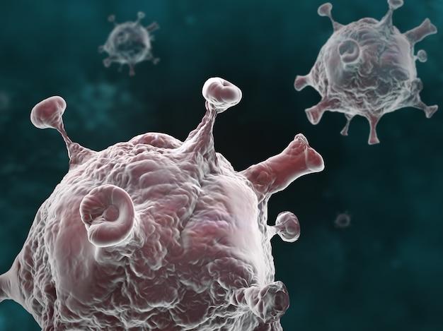 Illustrazione grafica della pandemia della malattia di coronavirus su uno sfondo scuro Foto Gratuite