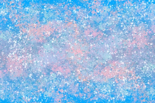 Graphic illustration of dynamic paint texture in winter pastel tones Premium Photo