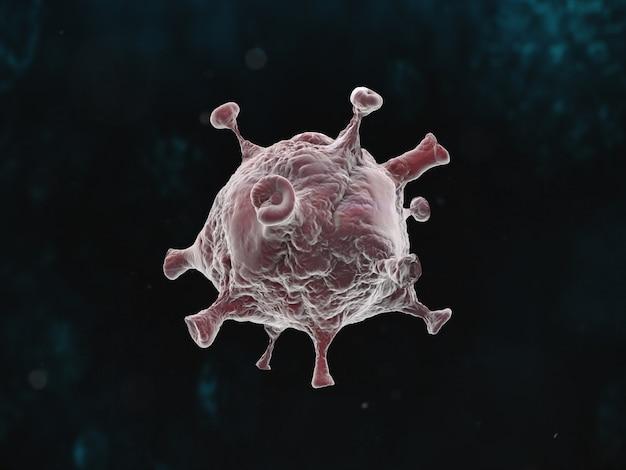 Графическая иллюстрация пандемии коронавирусной болезни на темном фоне Бесплатные Фотографии