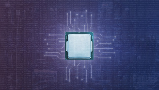 Graphic processor unit gpu and microelectronic circuits. Premium Photo