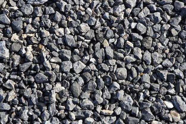 Gravel gray stone textures for asphalt mix concrete Premium Photo