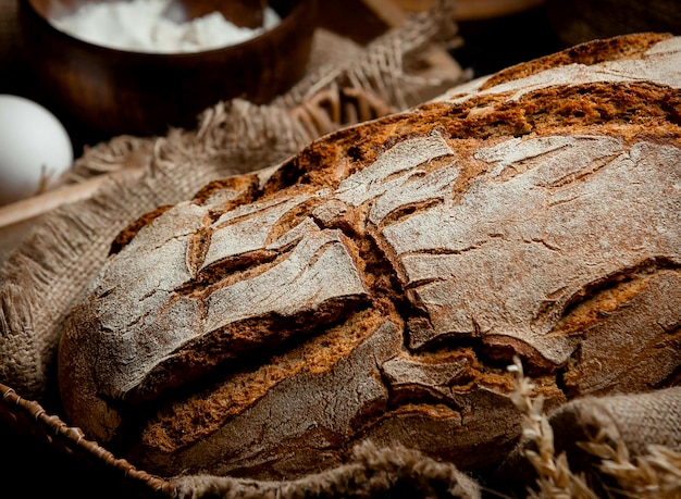 Gray bread on the table Free Photo