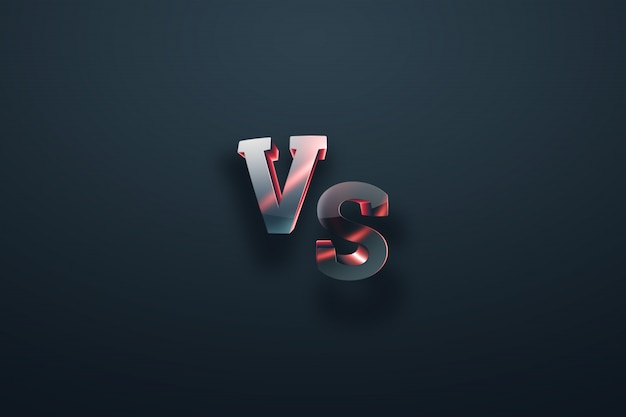 Gray-red versus logo Premium Photo