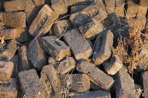 Gray stone bricks heaped Free Photo